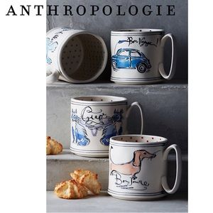 Anthropologie Bon Voyage Sketchbook Mug